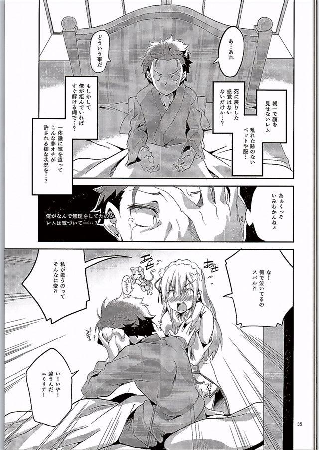 リゼロのエロ漫画34枚目