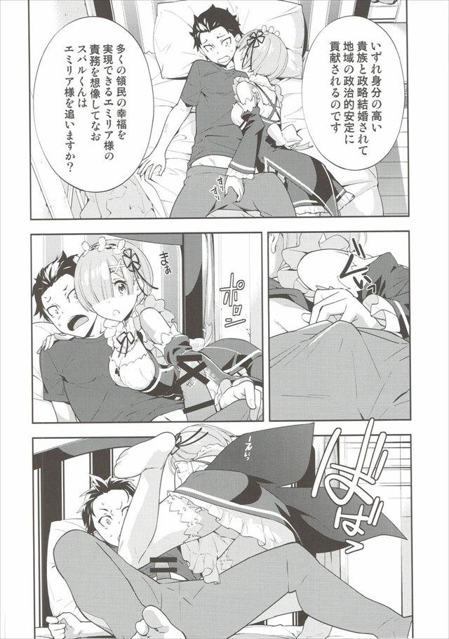 Re:ゼロから始める異世界生活のエロ漫画9枚目