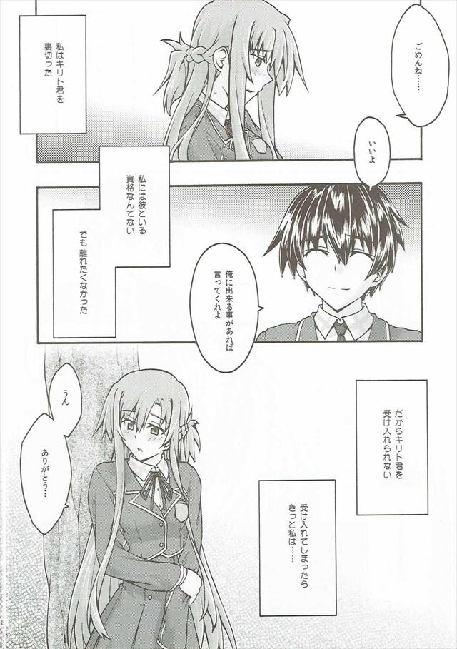 SAOのエロ漫画7枚目